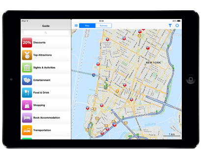 iPad new york app
