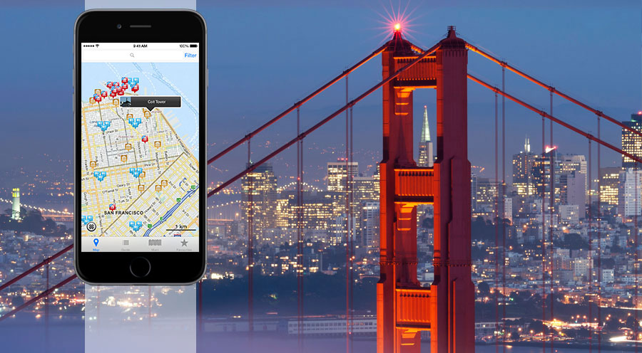 san francisco for less travel app